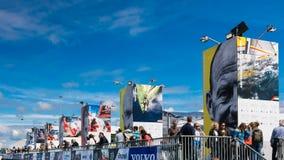 Volvo oceanu rasy przystanek Haga, holandie zdjęcie stock