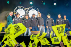 Volvo oceanu rasy przystanek Haga, holandie zdjęcie royalty free