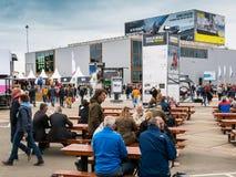 Volvo oceanu rasy przystanek Haga, holandie fotografia royalty free