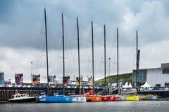 Volvo oceanu rasy przystanek Haga, holandie zdjęcia royalty free