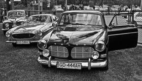 Volvo och Saab på en bilshow Royaltyfria Foton