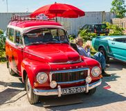 Volvo Oldtimer at the annual national oldtimer day in Lelystad stock images