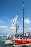 Volvo-Ozean-Rennen 2014-2015 in Sanya lizenzfreie stockfotografie