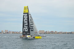 Volvo-Ozean-Rennen 2014 - Team Brunel 2015 Stockfotografie
