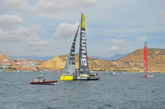 Volvo-Ozean-Rennen 2014 - Team Brunel 2015 Lizenzfreie Stockbilder