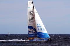 Volvo-Ozean-Rennen Team Clean Seas Lizenzfreie Stockfotos