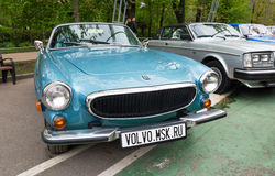 Volvo P1800. MOSCOW, RUSSIA - May 21, 2017. Retro car show exhibion in Sokolniki park. Volvo P1800 old classic car royalty free stock images