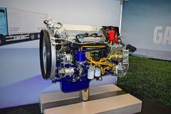 Volvo posto gás Lorry Engine Alicante 2017 foto de stock