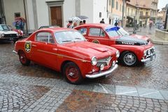 Saab 96 and Volvo PV544 Stock Photos