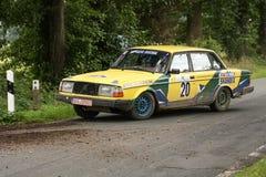 Volvo Rallye汽车 免版税库存照片