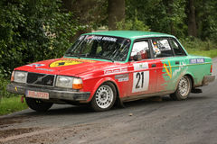 Volvo Rallye Car. Wedemark Rallye, Lower Saxony, Germany Royalty Free Stock Images