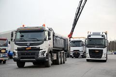 Volvo and Renault Trucks For Demo Drive Royalty Free Stock Photos