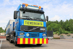 Volvo Road Marking Truck and Trailer Stock Images