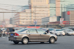 Volvo S50L in city center, Beijing, China Stock Photography