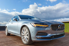 Volvo S90 in the Official representative office in Ukraine. Royalty Free Stock Images