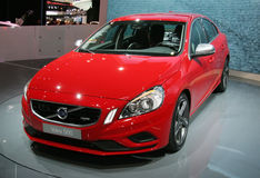 Volvo S60 at Paris Motor Show Royalty Free Stock Images