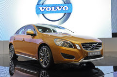 VOLVO S60 T6. Sweden VOLVO S60 T6 car in its exhibition hall,in 2010 international Auto-show GuangZhou. it is from 20/12/2010 to 27/12/2010. photo taken on 25 Royalty Free Stock Photos
