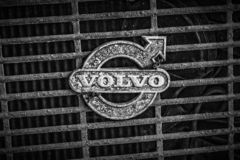 Volvo Sign on Grill stock photos