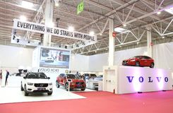 Volvo Stand at SIAB 2018, Romexpo, Bucharest, Romania. The international automobile saloon in Bucharest Royalty Free Stock Photos