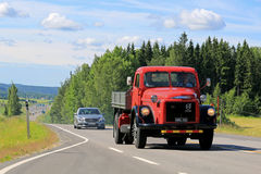 Volvo Titan Tipper truck on the Road Stock Photos