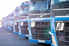 Volvo trucks Royalty Free Stock Photos
