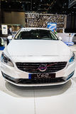 Volvo V60 Plug-in Hybrid, Motor Show Geneva 2015. Stock Photo