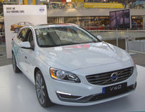 Volvo V60 self-driving car at the 2014 New York International Auto Show Royalty Free Stock Photo