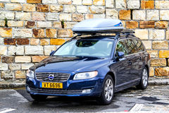 Volvo V70. TYROL, AUSTRIA - JULY 29, 2014: Motor car Volvo V70 at the Grossglockner High Alpine road Royalty Free Stock Photography