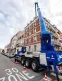 Volvo-van de de motorgondelmanipulator van Vrachtwagenfmx het hydraulische heftoestel royalty-vrije stock afbeeldingen
