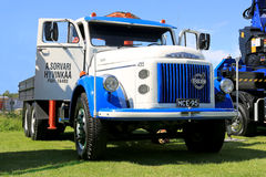 Volvo 495 Vintage Truck in a Show stock photos