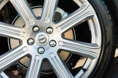 Volvo wheel closeup Royalty Free Stock Photos