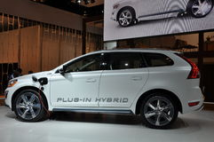Volvo XC-60 Hybrid. NEW YORK - APRIL 11: Volvo XC-60 Hybrid at the 2012 New York International Auto Show running from April 6-15, 2012 in New York, NY Stock Photography