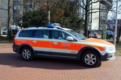 Volvo XC 70 bil för kommando för Feuerwehr DÃ ¼sseldorf Arkivbilder