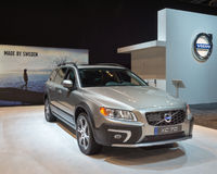 2015 Volvo XC70. CHICAGO, IL/USA - FEBRUARY 13, 2015: 2015 Volvo XC70 car at the Chicago Auto Show (CAS), the largest auto show in North America stock images