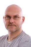 Volwassen balding mens stock afbeelding
