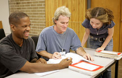 Volwassen ED - de Diversiteit van de Student Stock Foto