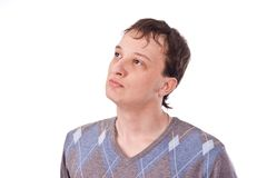 Volwassen kerel op geïsoleerdes achtergrond Royalty-vrije Stock Foto's