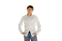 Volwassen kerel in overhemd; Stock Fotografie