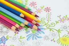 Volwassen kleuring antistress royalty-vrije stock afbeeldingen