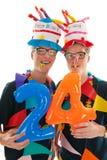 Volwassen mannelijke tweelingenverjaardag Royalty-vrije Stock Afbeelding
