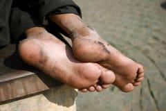 Volwassen mannelijke voeten Stock Afbeeldingen