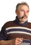 Volwassen mensen met een pijp in een hand Stock Foto's