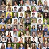 Volwassen portretten van mooie mannen en vrouwen stock afbeeldingen