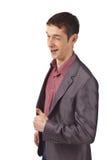 Volwassen zakenman op isolate achtergrond Stock Afbeeldingen