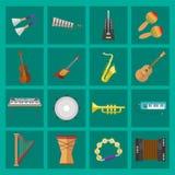 Volym för rekordet för producenten för musikstudiomusikinstrument bearbetar vektorillustrationen Royaltyfri Bild