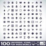Volym 3 för 100 universell symboler royaltyfri illustrationer