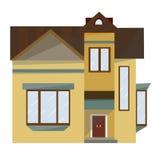 Volymetrisk bild av fasaden av hemmet royaltyfri fotografi