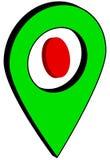 Volymetrisk punkt GPS Fotografering för Bildbyråer