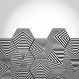 Volymetrisk pyramid 3D sexhörning optisk bakgrundsillusion blA Royaltyfria Bilder