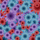 Volymfärgblommor Arkivbild
